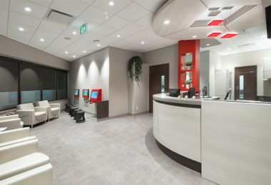 Dental office reception
